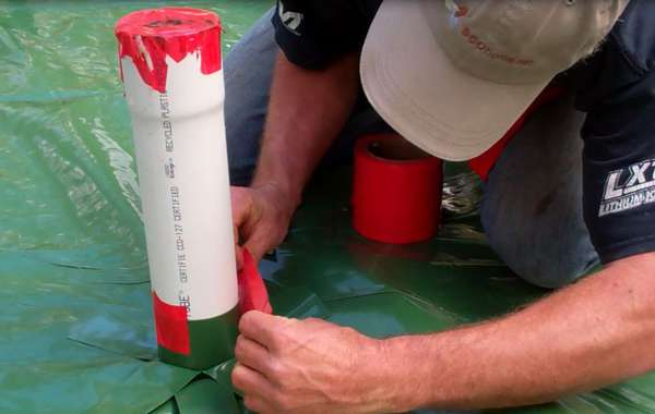 Radon Mitigation - Installing a radon evacuation stack in a slab floor