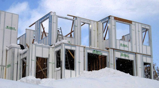 A building made from K-Tect's foam and steel structural insulated pane