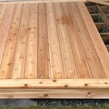 Cedar deck and stairs under construction