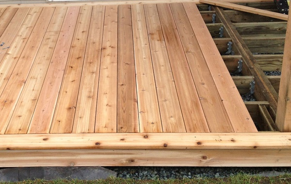 Cedar deck and stairs under construction cedar naturally the most durable wood
