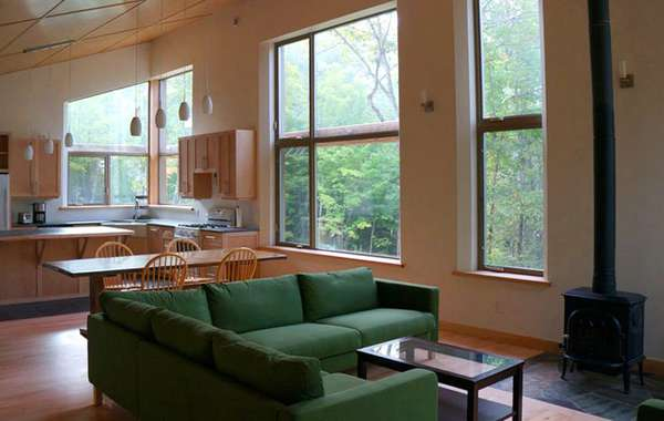 Off grid, passively heated and cooled house in the Gatineau Hills, Que