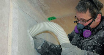 Dense-packed cellulose wall insulation