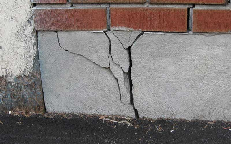 Frost heave can damage basement wals and foundations