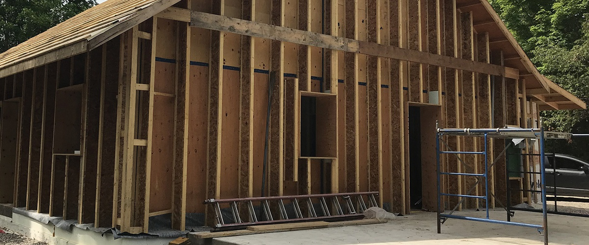 Passive House wall system ; Larsen Trusses & dense-packed cellulose insulation