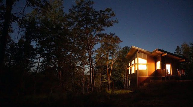 Heating an off-grid home