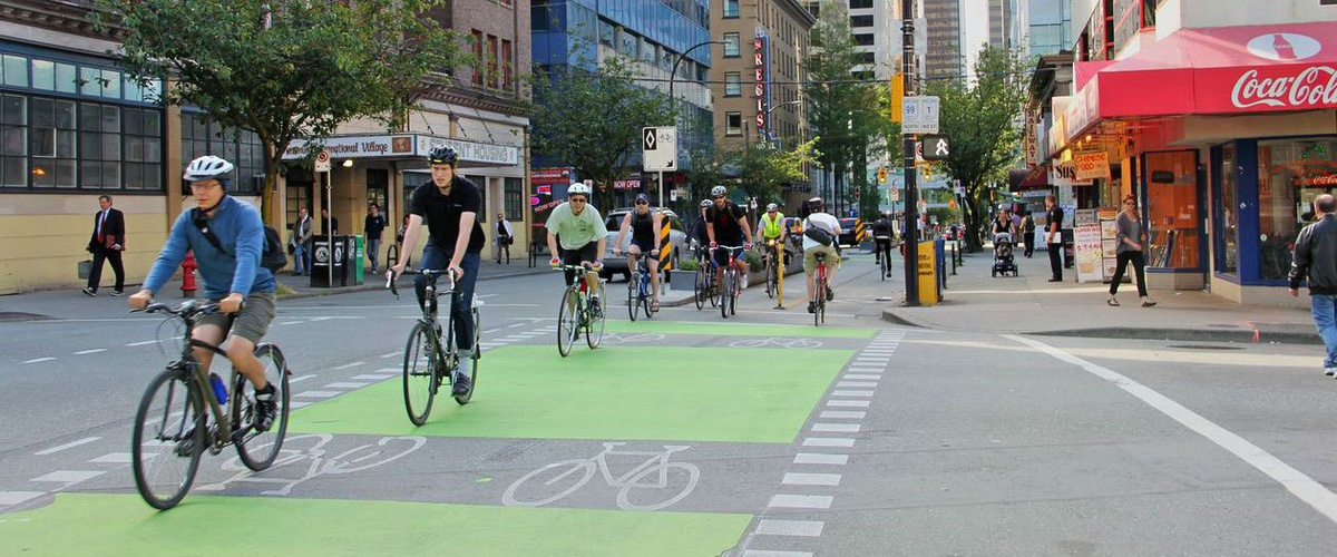 Image result for bike lanes vancouver