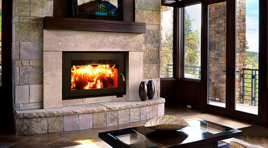 Elegant High Efficiency Fireplace