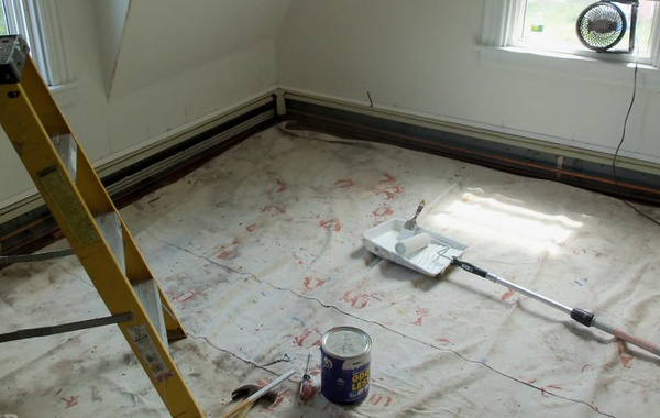 Vapor retarder latex primer instead of polyethylene sheet