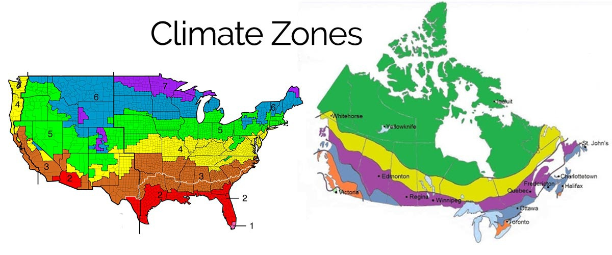 Climate Zone Map Us Building Climate Zones USA & Canada   Why it's Important   Ecohome