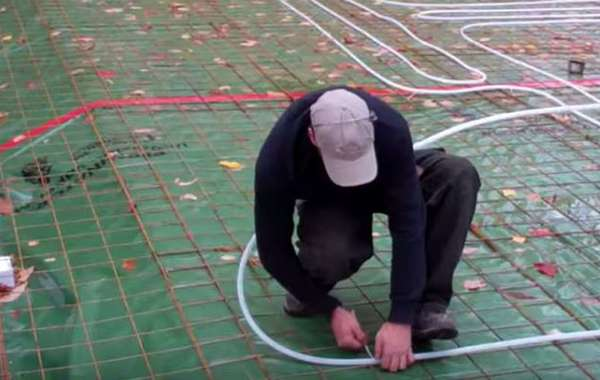 Radiant floor tube installation