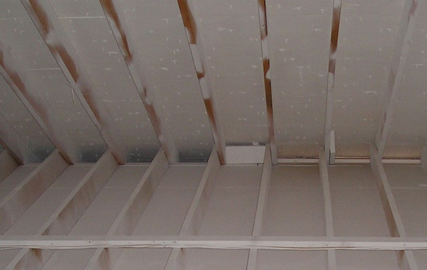 An attic with 'insulating paint' which doesn't insulate