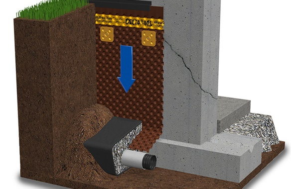DELTA®-MS keeps basements dry