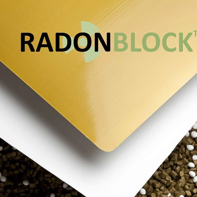 Radon Block under-slab radon gas membrane and vapor barrier