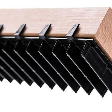 Recycled plastic sill plate vents to prevent moisture and water damage in basements