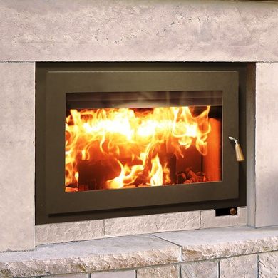 RSF Focus 320 wood-burning fireplace