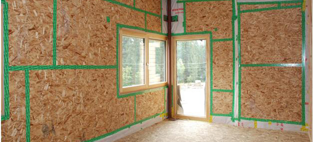 Taped Osb Sheathing As Air Barrier Durfeld Constructors