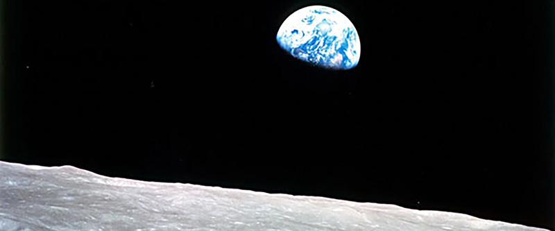 View of Earth from the Moon - Earth Day 2020 50 Year Anniversary Ecohome
