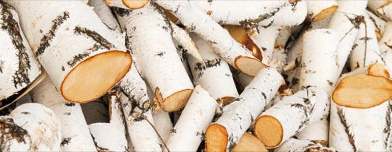 White Birch firewood emits medium heat when burnt