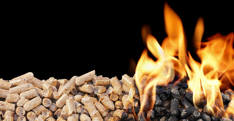 Burning wood pellets is an efficient way to produce sustainable heat in a green home