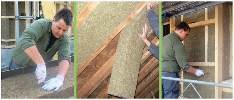 Gramitherm natural grass insulation batts and rigid boards