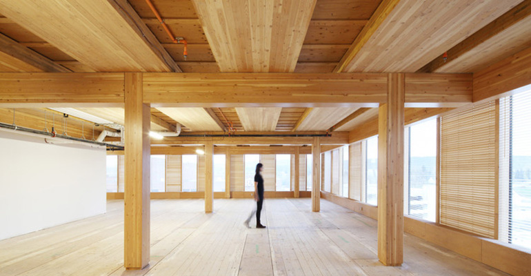 Interior finishing with CLT Cross Laminated Timber