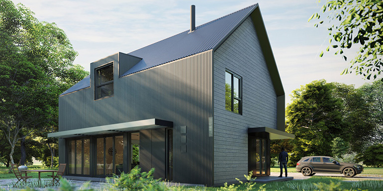 LEED Platinum affordable prefab family kit house