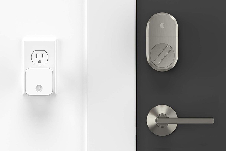 August Satin Nickel Smart Lock