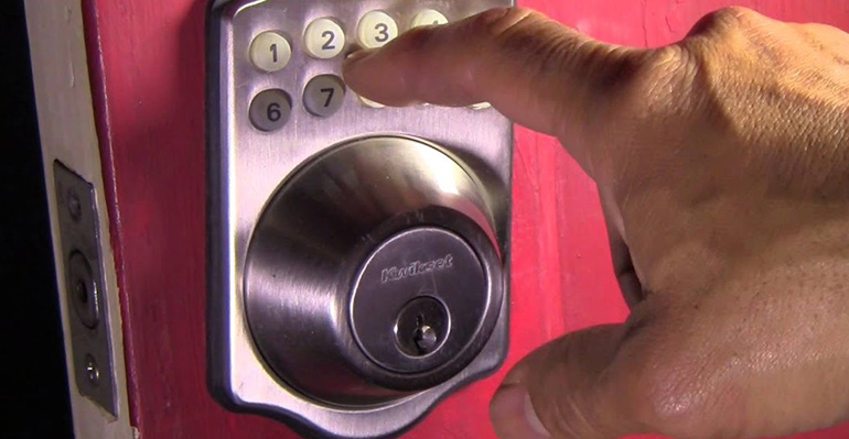 Smart door lock with combination passcode