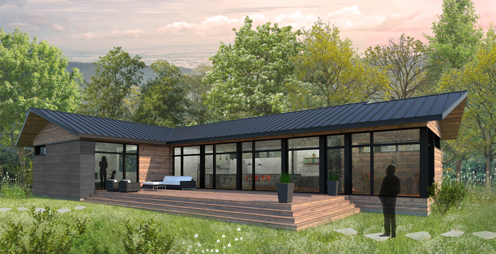 High end 3 bed prefab green kit home that's Affordable - the Abri 1850 BV
