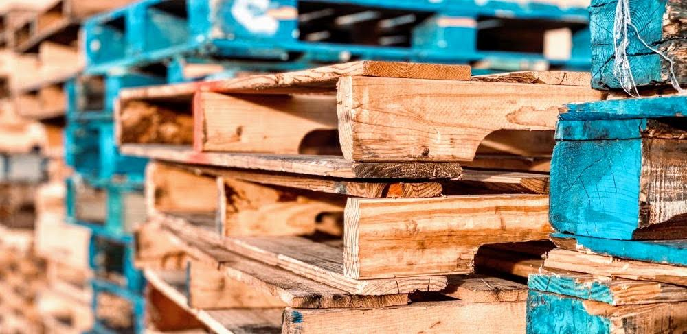 the best pallets for making furniture would probably be recycled anyhow