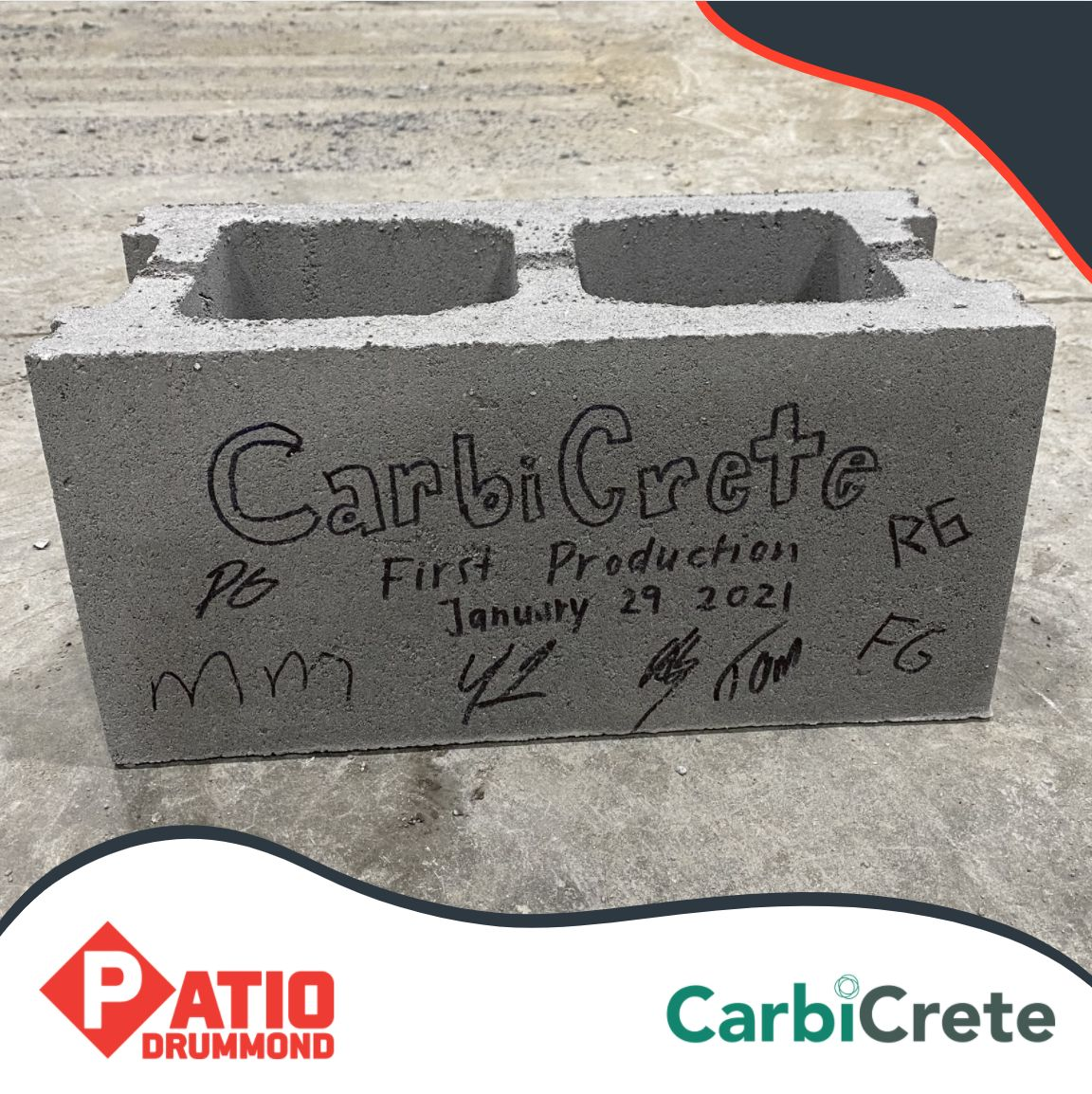 Carbon Negative Concrete CMU Blocks - Now in Production in Quebec